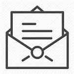 Letter Message Icon Document Apthai Unsealed Ap