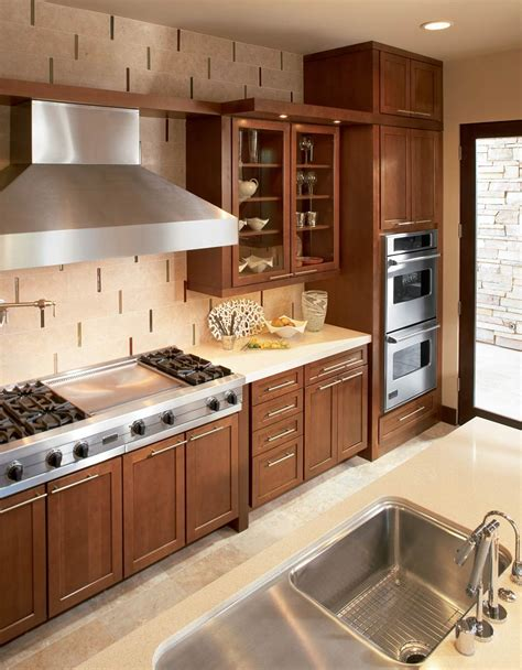 cream kitchen cabinet doors warm wood kitchen with cream tile and stainless