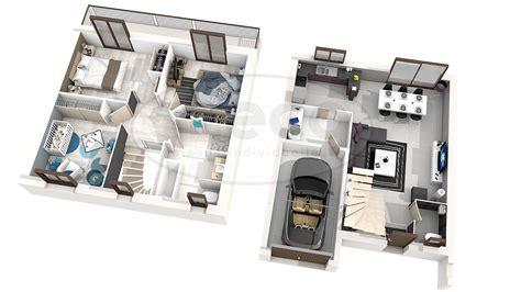 plan maison etage 3 chambres gratuit maison iris