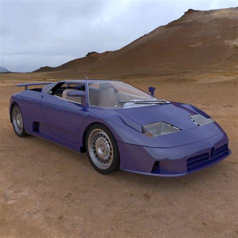 Bugatti EB 110 3D | CGTrader