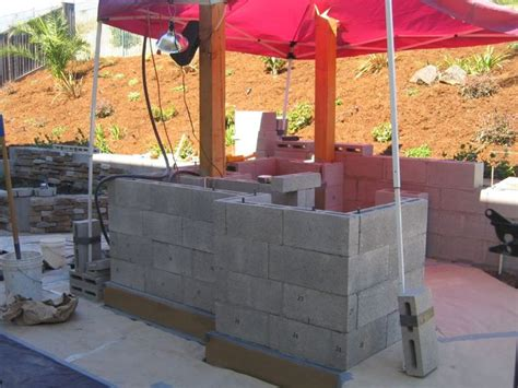 outdor kitchen islands  concrete block