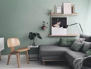 deco salon gris 88 super idees pleines de charme With peindre un mur de couleur dans un salon 7 couleur peinture bureau dulux valentine