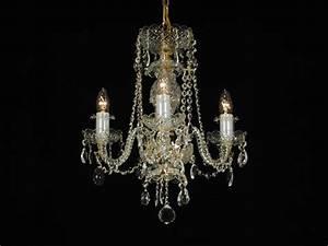 Lustre Pampilles Cristal : lustre 3 branches en cristal de boh me boh me dor e ~ Teatrodelosmanantiales.com Idées de Décoration