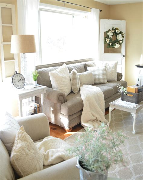 refreshed modern farmhouse living room  vintage nest