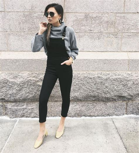 25+ best ideas about Black overalls on Pinterest | Grey salopettes Black dungarees and Womenu0026#39;s ...