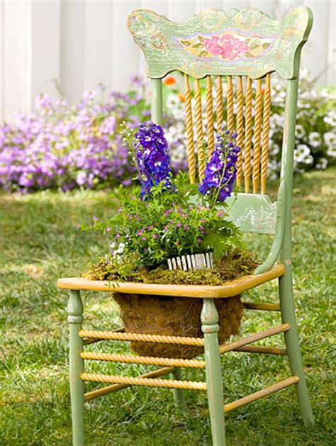 creative chair planters for home garden home design and