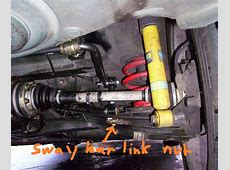 E30 Subframe removal sway bar link RTS Your Total