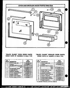 Caloric Model Rxs214 Wall Oven  Gas Genuine Parts