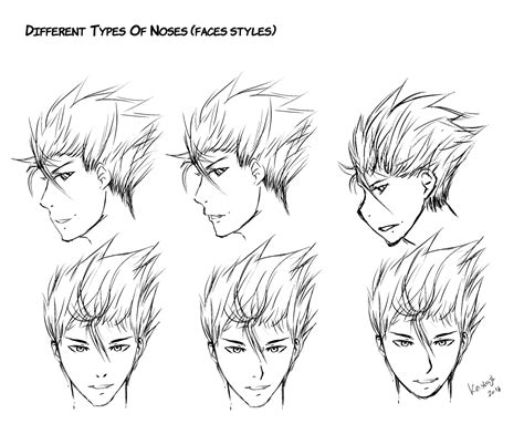 Different Types Of Noses(faces Styles) By Keishajl On