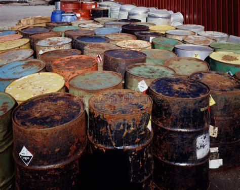 waste toxic drums barrels