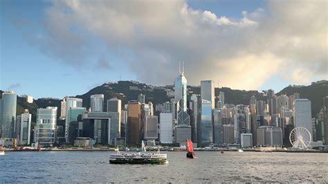 victoria harbour  hong kong island skyline hong kong china stock video footage storyblocks