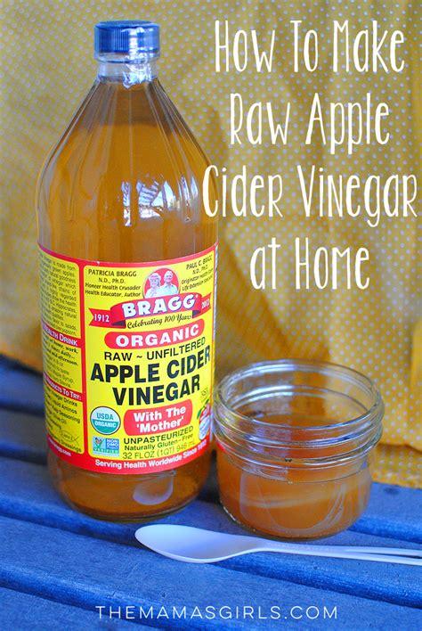 raw apple cider vinegar  home