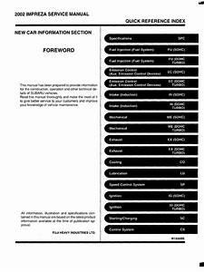 Subaru Impreza 2002 Service Manual