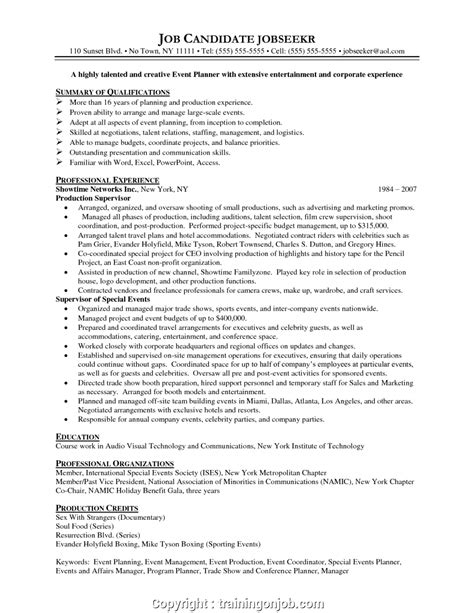 Event Manager Resume by Simply Sle Resume For Event Management Fresher Event