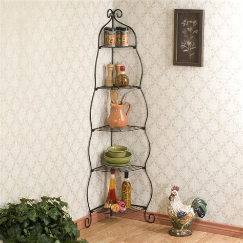 cuisine decorative amazon com scrolled black corner etagere corner shelves
