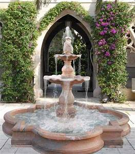 Water fountains front yard and backyard designs garden for Front yard fountains
