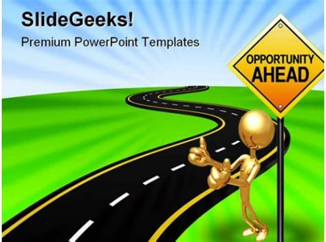 road  opportunity business powerpoint template