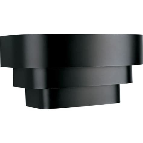 home depot wall sconces progress lighting 14 in 1 light black wall sconce with