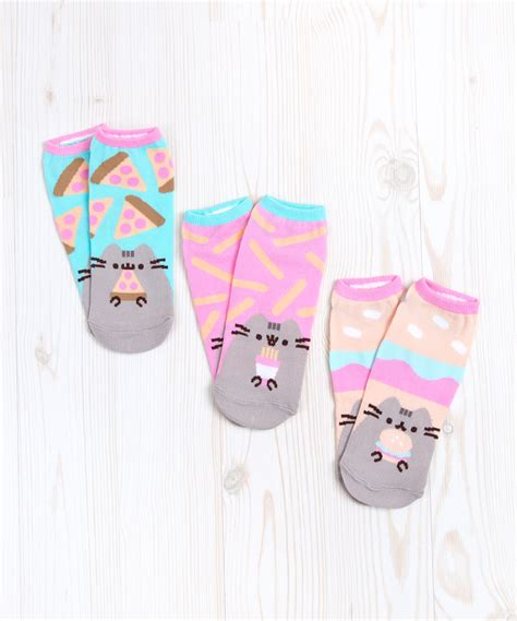 exclusive pusheen snacks  pack ankle socks hey chickadee