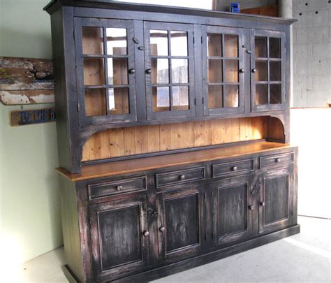 hutch kitchen furniture large reclaimed wood hutch rustic china cabinets and hutches boston by lakeandmountainhome