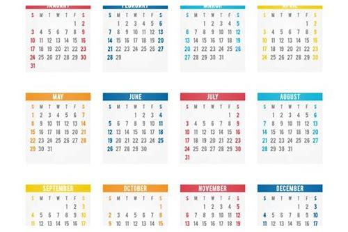 baixar o calendario de 2016 vectores gratis