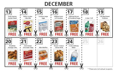 code promo cuisine store mojo savings safeway affiliated stores freebies with purchase every day through december 24th