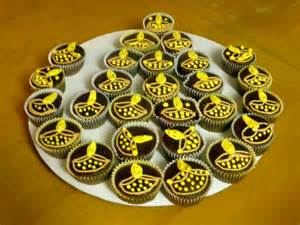 rangoli decoration eggless cup cakes raji creations