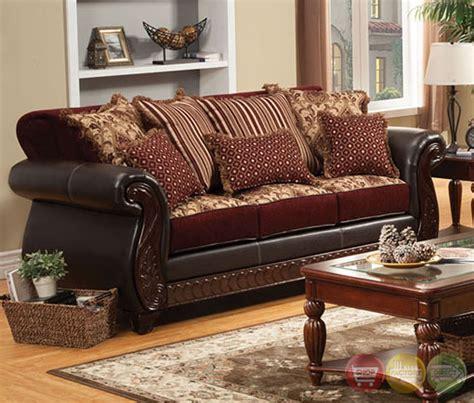 burgundy living room set fidelia traditional burgundy living room set with pillows