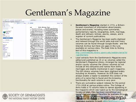 Genealogy In The Sun 2014. Beyond Parish Registers. Name