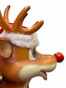 Cute, Standing, Resin, Reindeer, Decor