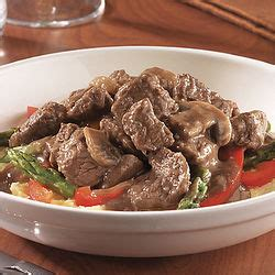 Swanson® beef stock, fresh herbs and a bit of cream combine to make a sophisticated pan sauce for quality beef tenderloin steaks. Beef Tenderloin Tips With Mushroom And Wine Sauce ...