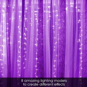 600 Led Christmas Curtain Lights Display Outdoor Fairy