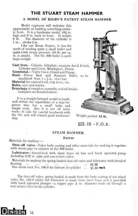 Steam hammer wanted.