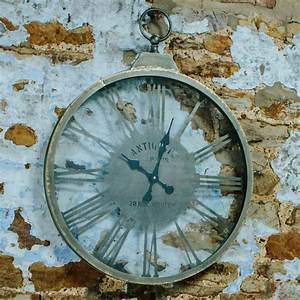 Looking, Through, Time, Wall, Clock