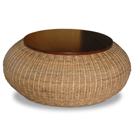 Round Rattan Coffee Table Uk  Add The Traditional Rattan