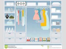 Flat Design Walk In Closet Stock Vector Image 62870585