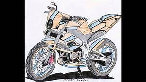 Image De Moto : dessin de moto youtube ~ Medecine-chirurgie-esthetiques.com Avis de Voitures