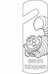 Door Coloring Hanger Pages Knock Crafts Doorhanger Deurhanger Fun Cat Doorhangers Picgifs sketch template