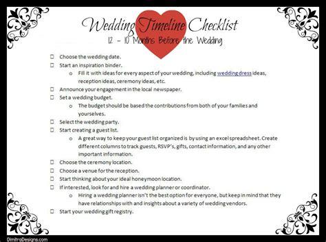 3 Month Wedding Checklist Timeline