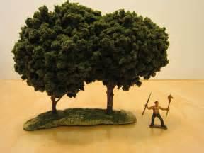 1000 foot general improving my miniature terrain trees