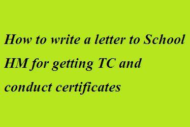 write  letter  school hm   tc