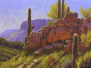 Saguaro Sunshine Painting by Cody DeLong