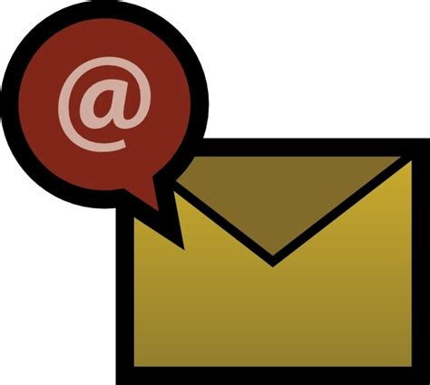 clipart symbols   email clipground