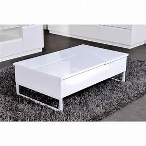 Table Laqué Blanc : table basse laque blanc pas cher ~ Teatrodelosmanantiales.com Idées de Décoration