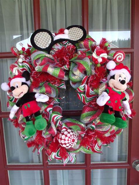 christmas mickey  minnie mouse deco mesh door