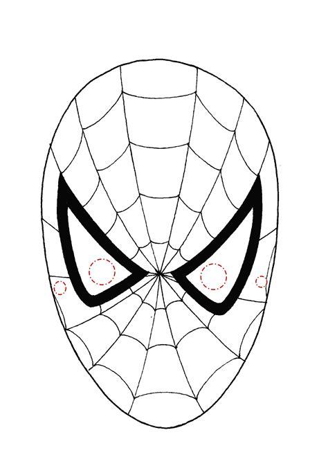 uomo ragno da colorare  maschere  carnevale stampare