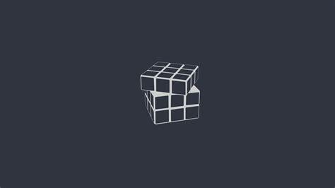 rubiks cube minimalism digital art wallpapers hd