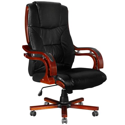 chaise bureau cuir black leather office chair high back vidaxl com