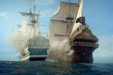 Caravelle 4k Wallpapers by Two Blue And Brown Galleon Ships Black Sails