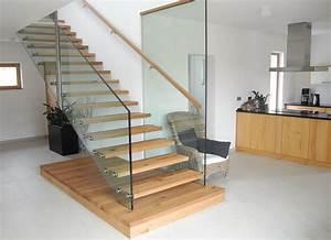 Treppe Mit Glasgeländer : schreinerei unterhuber plz 84367 zeilarn gerade treppe mit holzstufen treppen treppenbau ~ Sanjose-hotels-ca.com Haus und Dekorationen